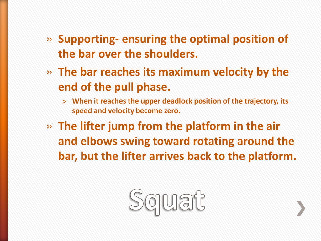 » Supporting- ensuring the optimal position of ...
