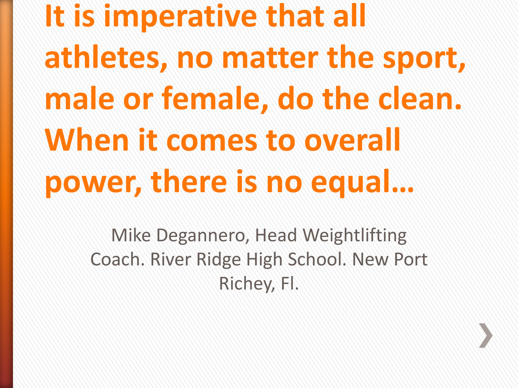 It is imperative that all athletes, no matter t...