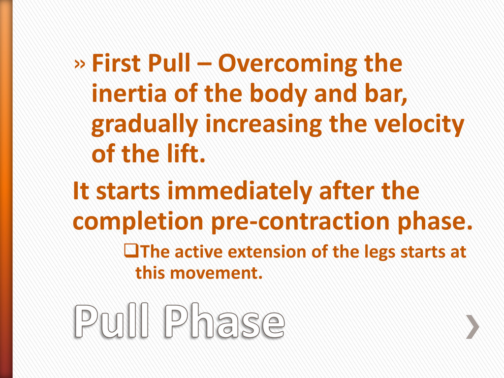»First Pull – Overcoming the inertia of the bod...