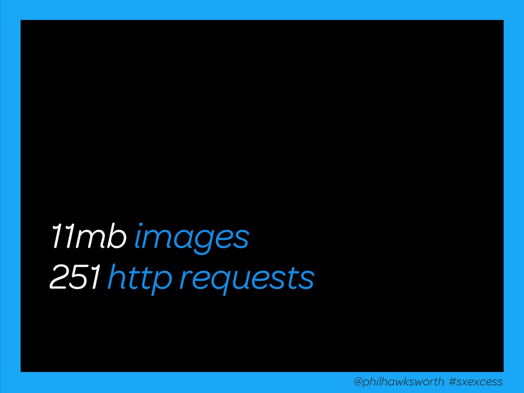 11mb images 251 http requests @philhawksworth #...