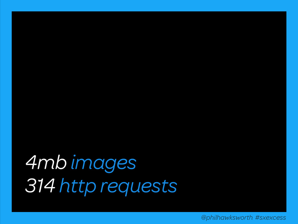 4mb images 314 http requests @philhawksworth #s...