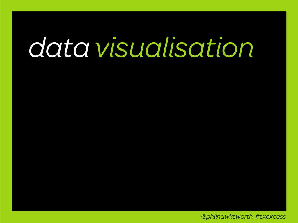 data visualisation @philhawksworth #sxexcess