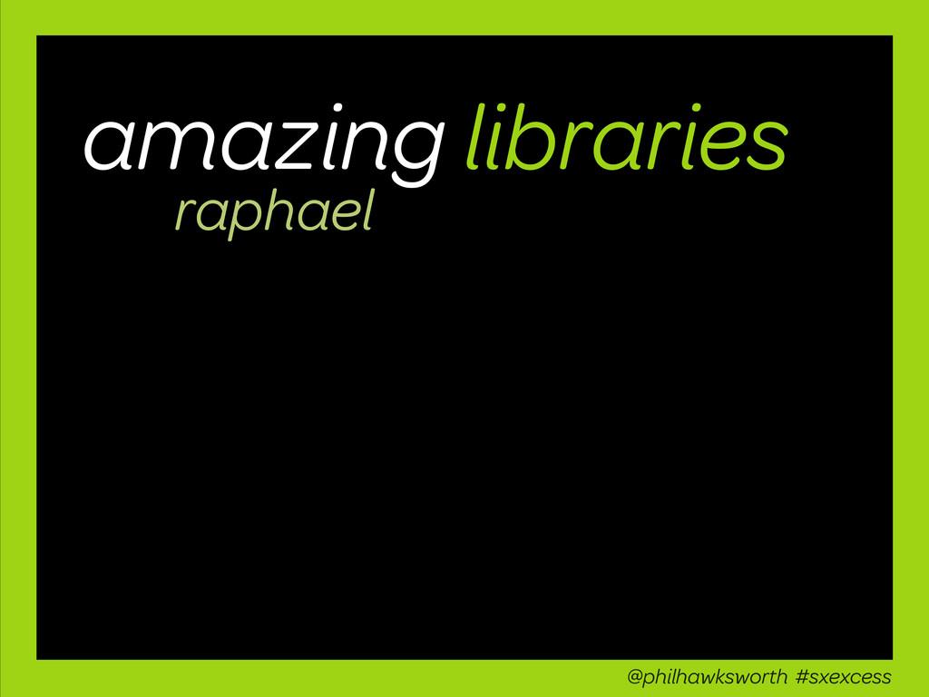 amazing libraries raphael @philhawksworth #sxex...