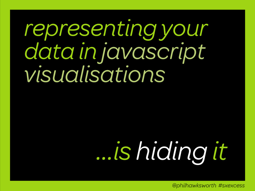 representing your data in javascript visualisat...