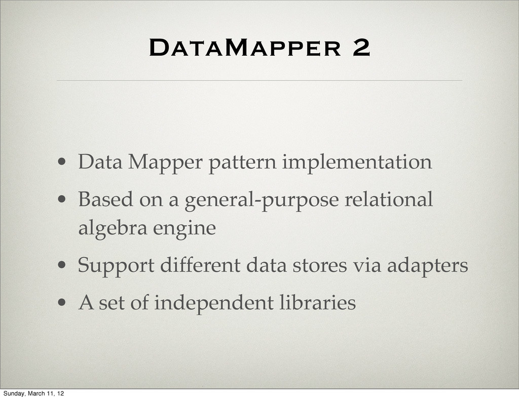 DataMapper 2 • Data Mapper pattern implementati...