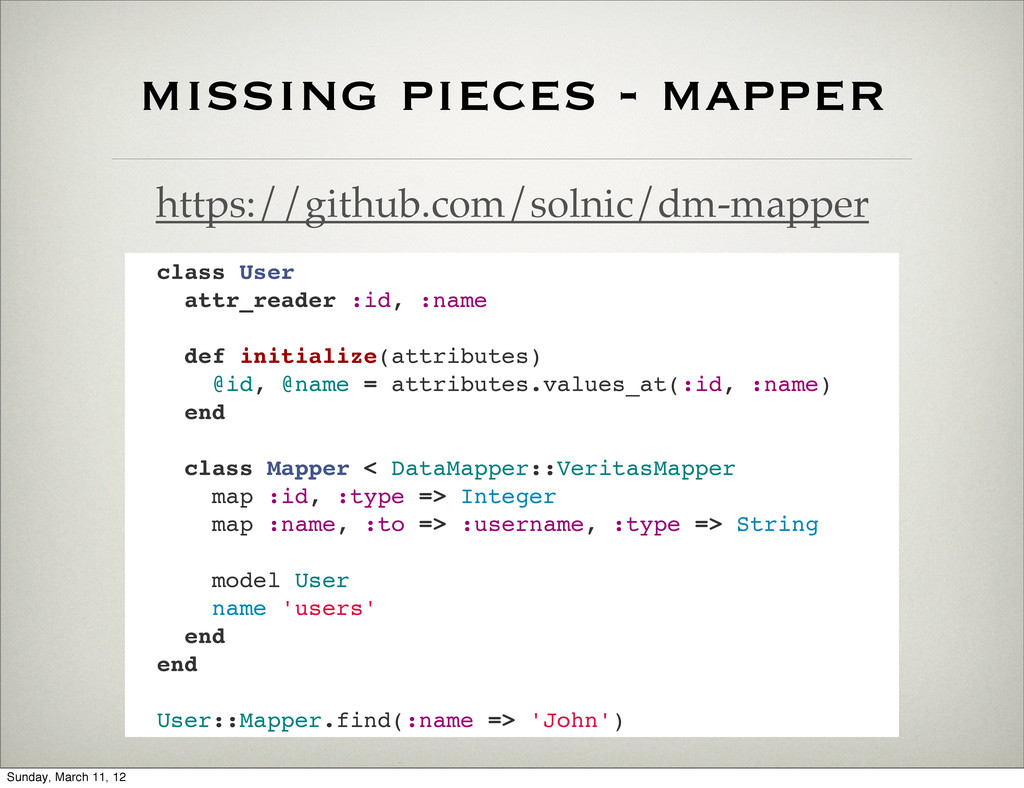 missing pieces - mapper https://github.com/soln...