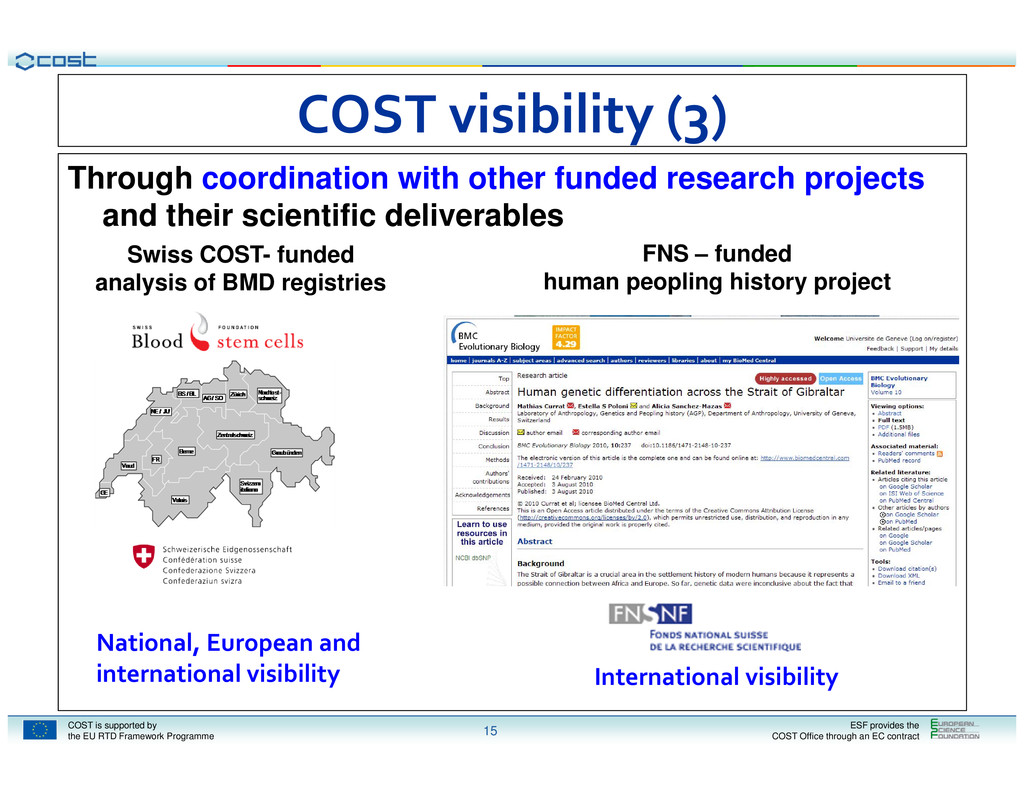 COST is supported by the EU RTD Framework Progr...