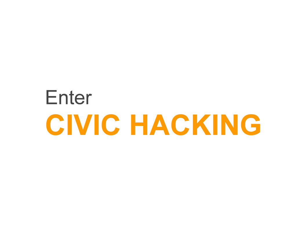 Enter CIVIC HACKING