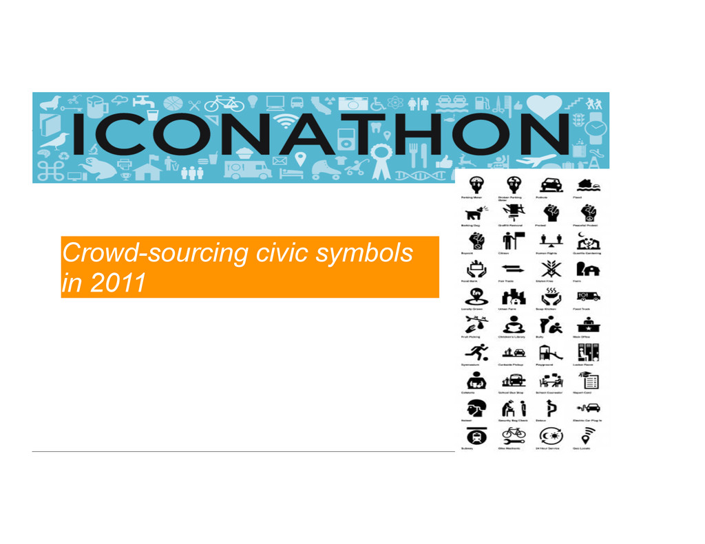 Crowd-sourcing civic symbols in 2011