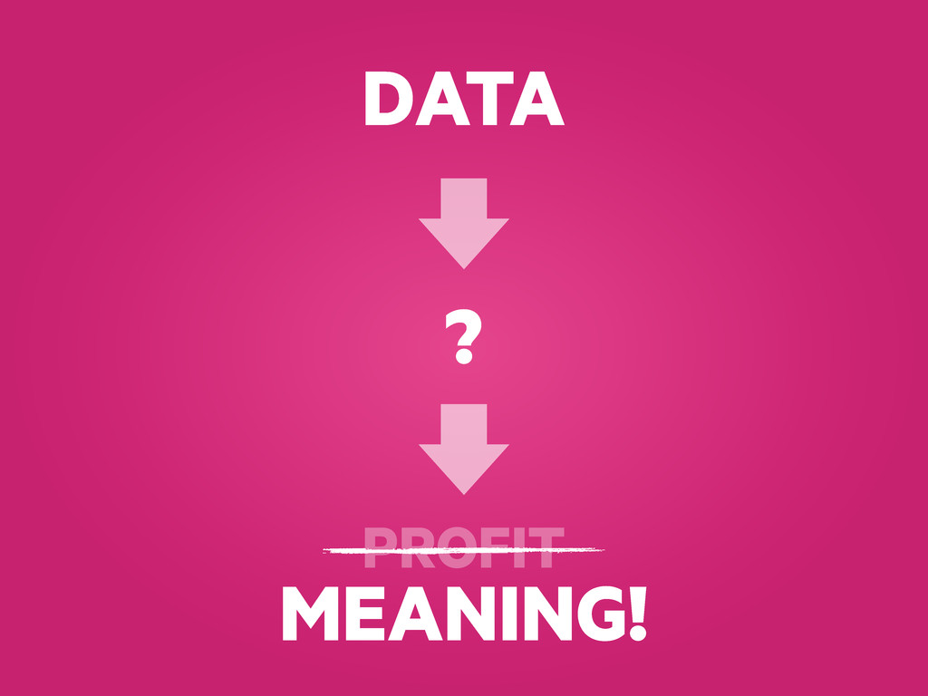 DATA ? PROFIT MEANING!
