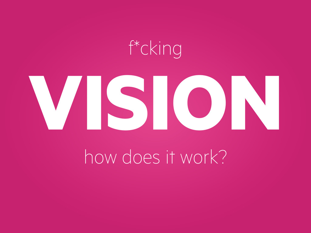 VISION f*cking how does it work?