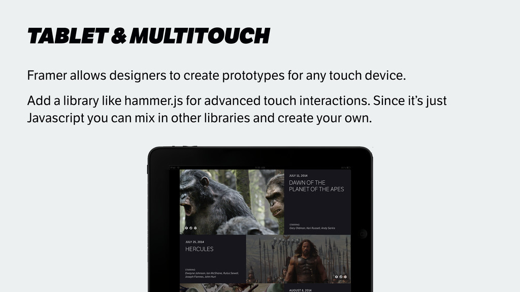 TABLET & MULTITOUCH Framer allows designers to ...