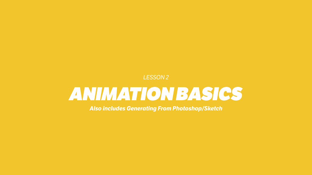 LESSON 2 ANIMATION BASICS Also includes Generat...