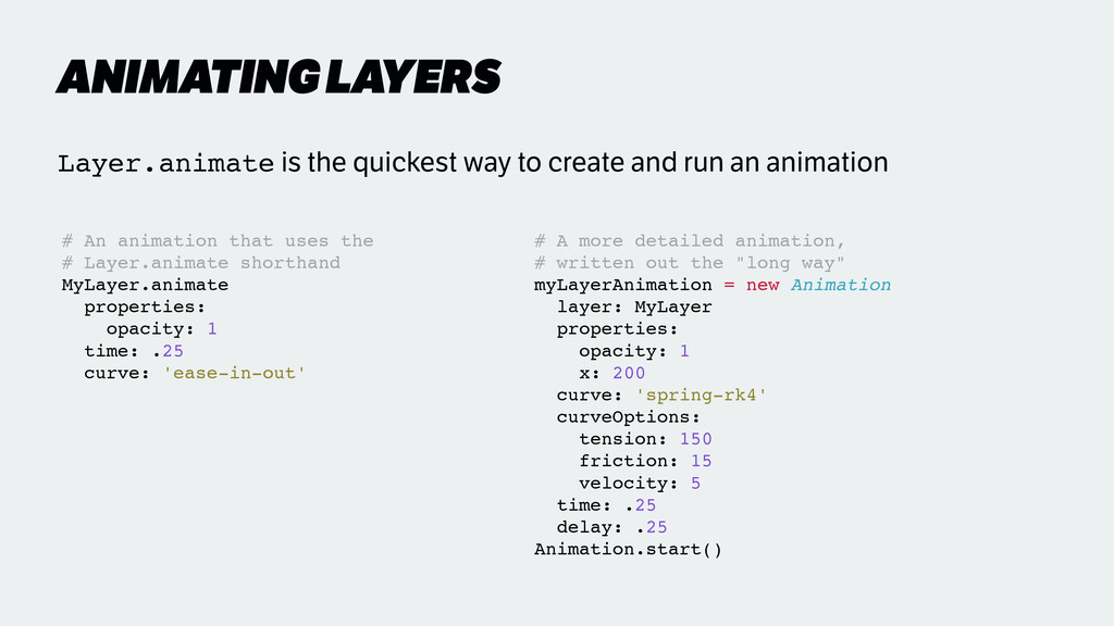 ANIMATING LAYERS # A more detailed animation, !...