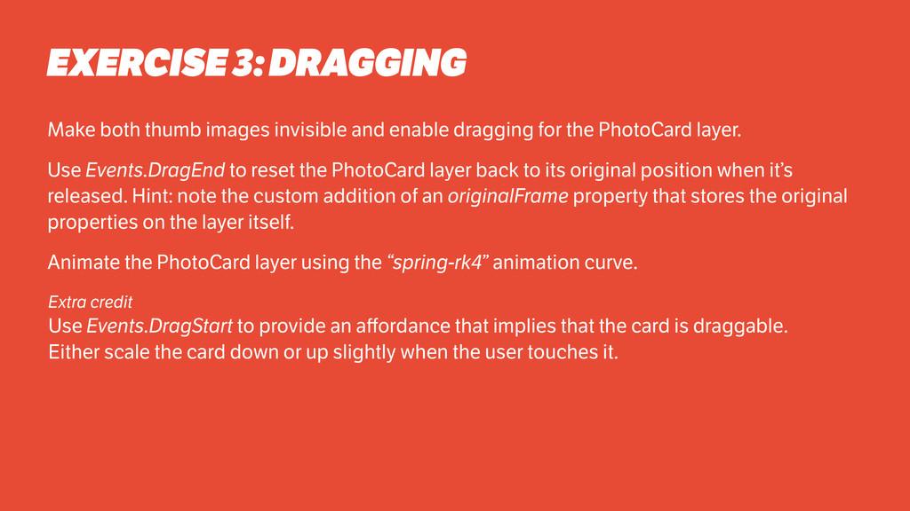 Make both thumb images invisible and enable dra...