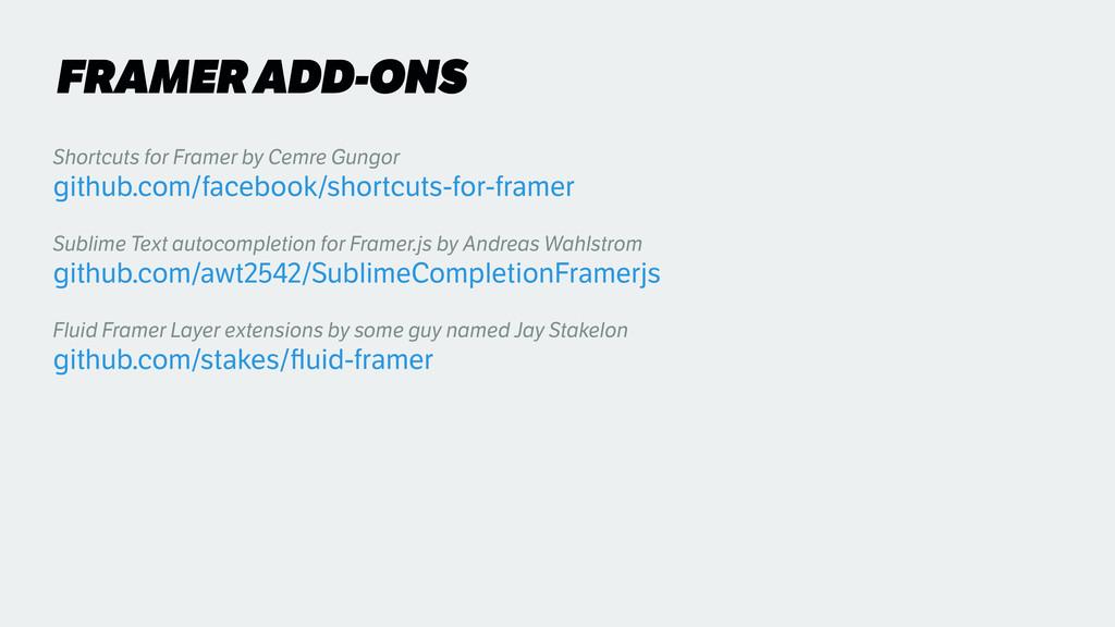 FRAMER ADD-ONS Shortcuts for Framer by Cemre Gu...