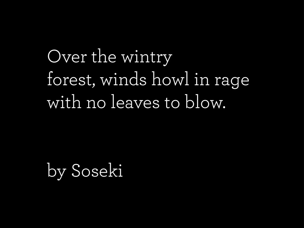 Over the wintry forest, winds howl in rage with...