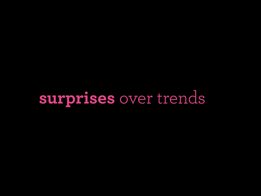 surprises over trends