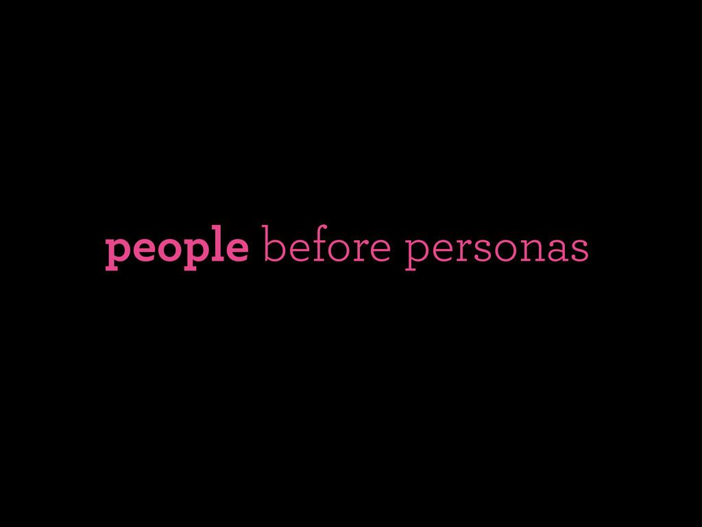 people before personas