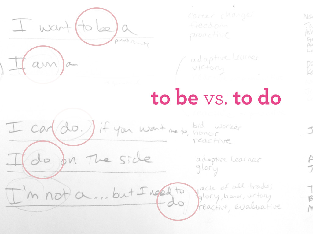 to be vs. to do