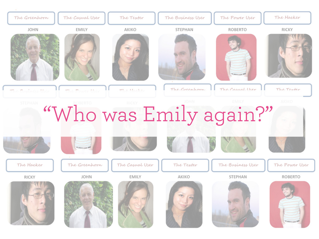 """Who was Emily again?"""