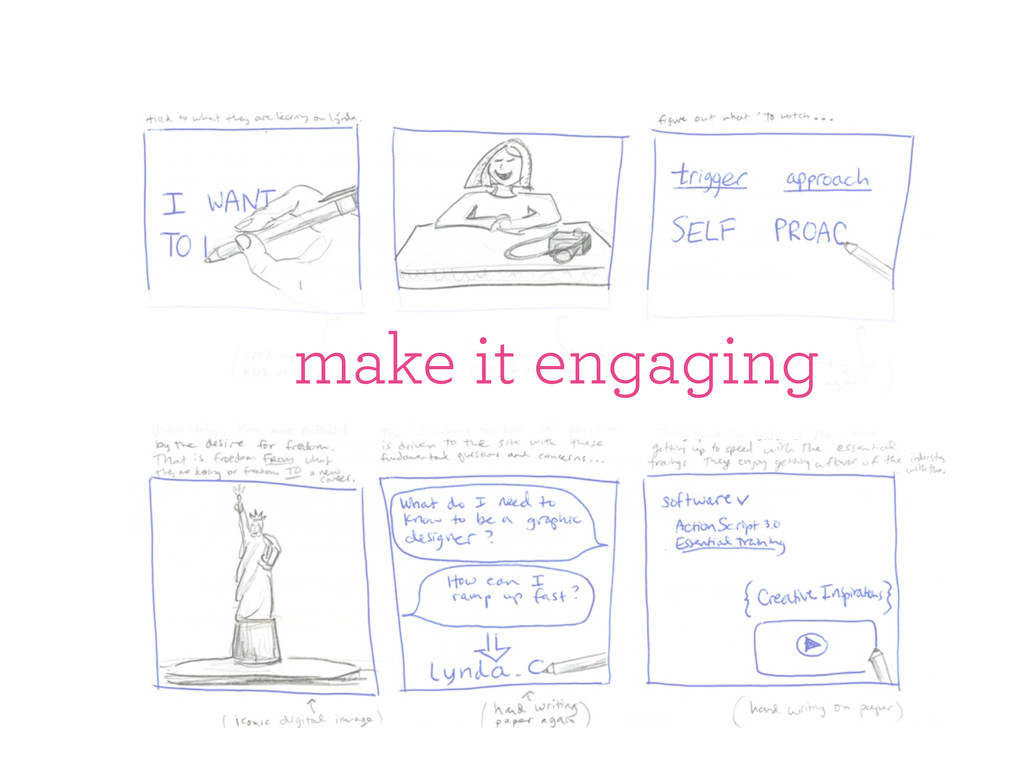 make it engaging