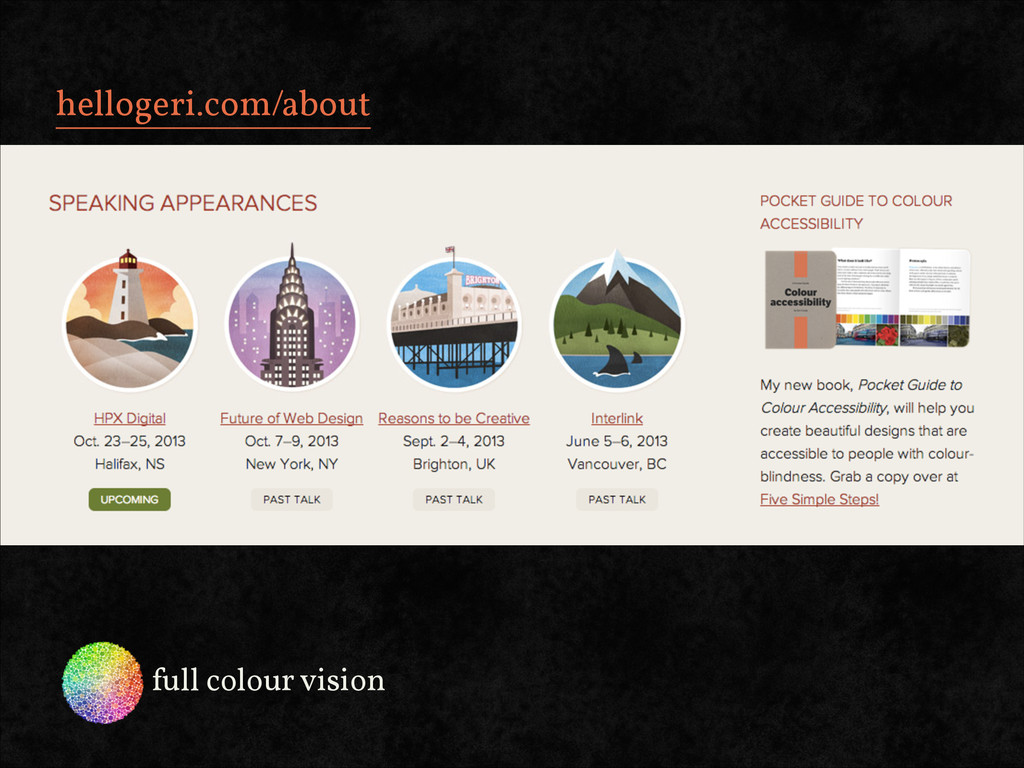 hellogeri.com/about full colour vision