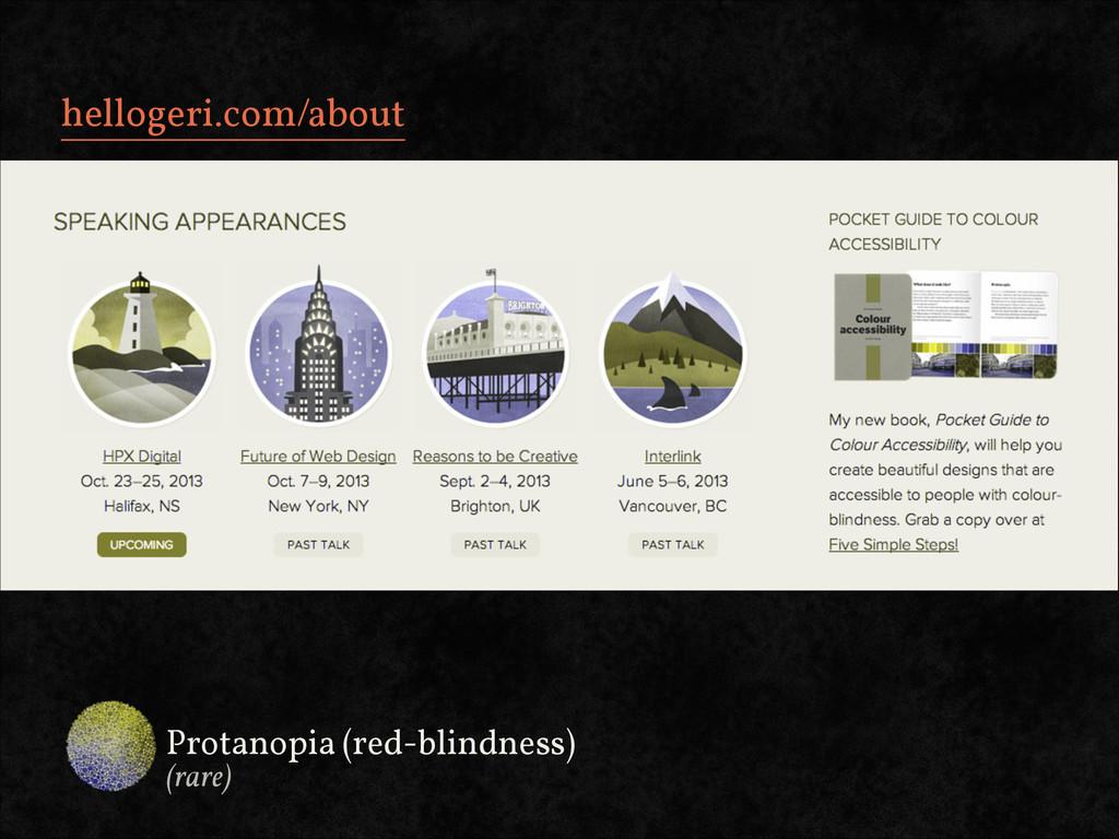 hellogeri.com/about Protanopia (red-blindness) ...