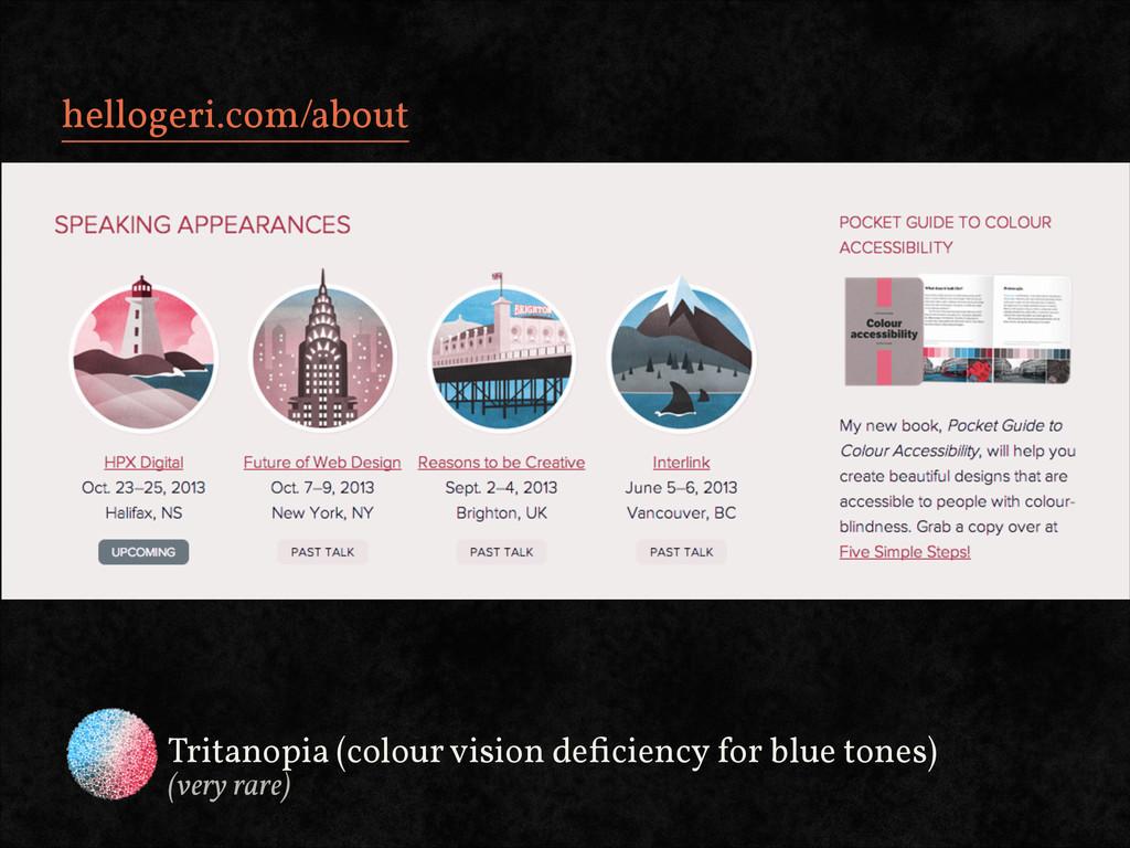 hellogeri.com/about Tritanopia (colour vision d...