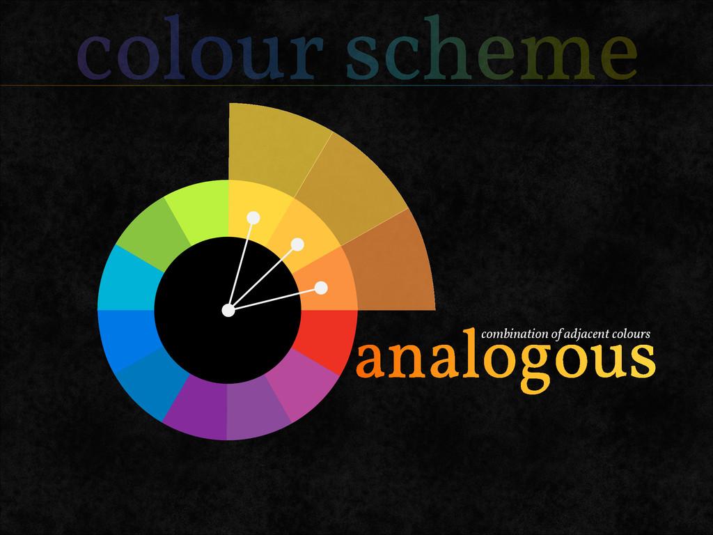 colour scheme combination of adjacent colours