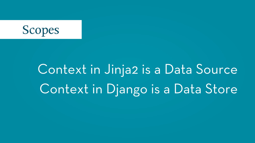 Context in Jinja2 is a Data Source Context in D...