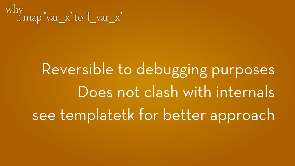 """… map """"var_x"""" to """"l_var_x"""" why Reversible to de..."""