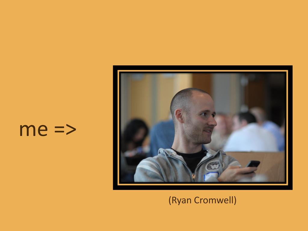 me => (Ryan Cromwell)