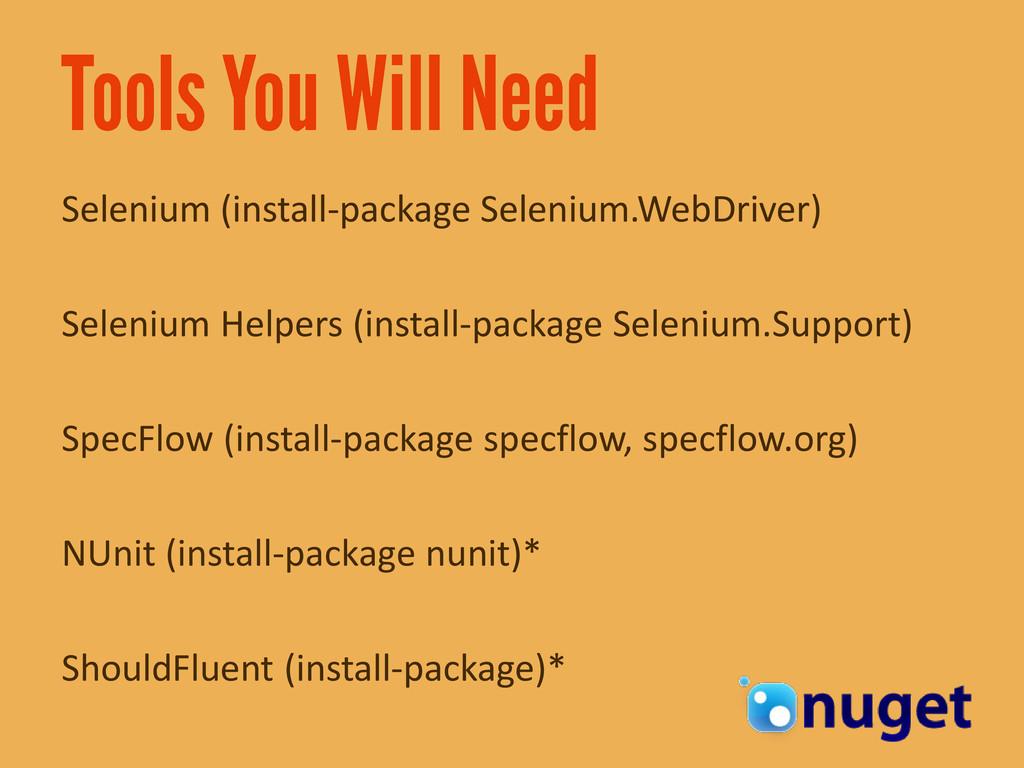 Selenium (install-package Selenium.WebDriver) S...