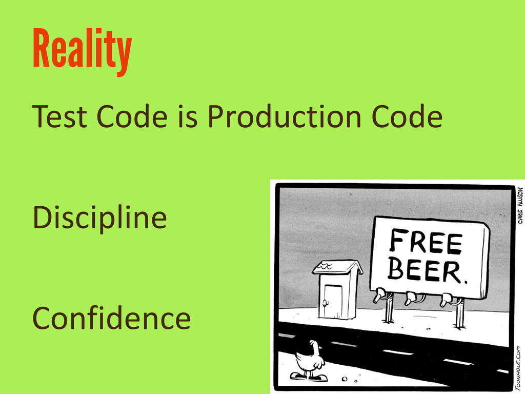 Test Code is Production Code Discipline Confide...