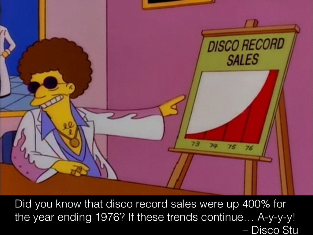 Did you know that disco record sales were up 40...