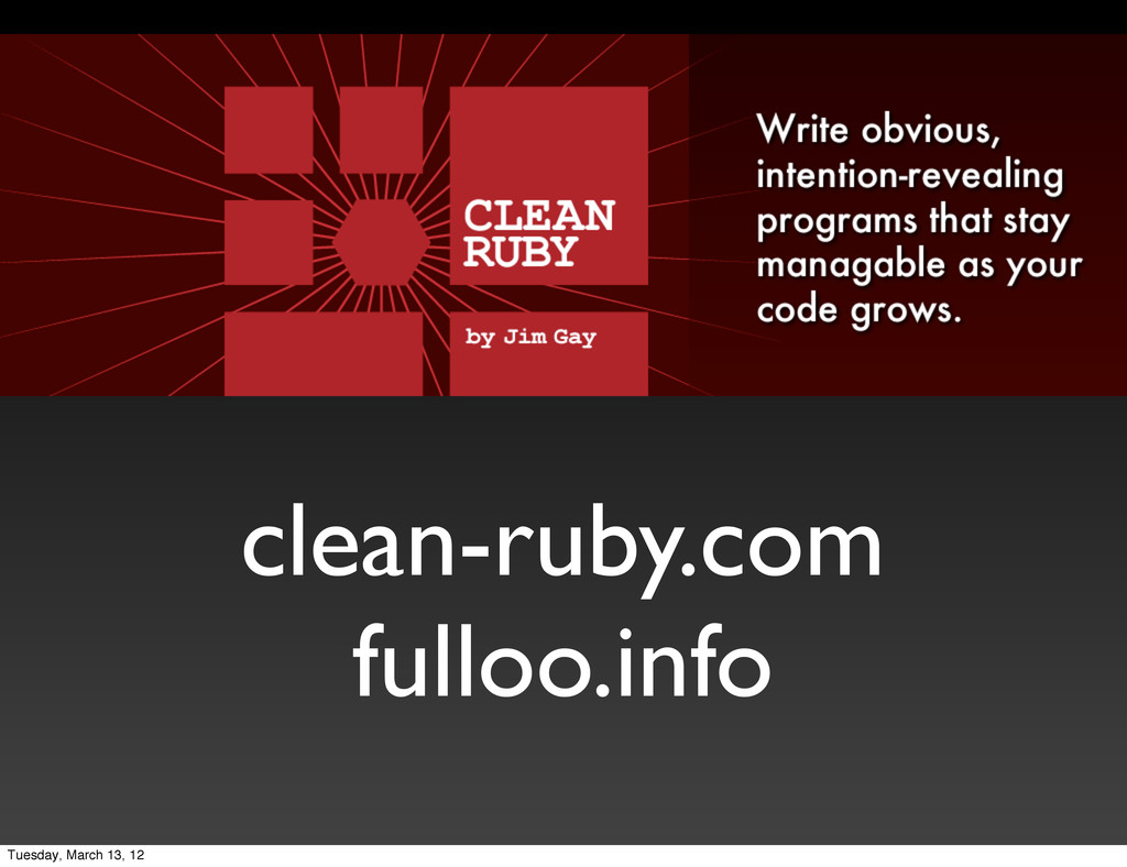 clean-ruby.com fulloo.info Tuesday, March 13, 12