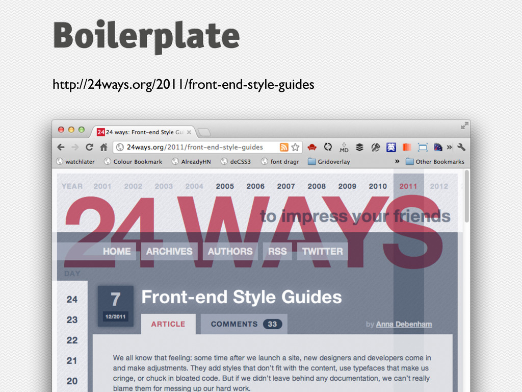http://24ways.org/2011/front-end-style-guides B...