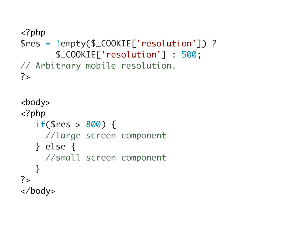<?php $res = !empty($_COOKIE['resolution']) ? $...