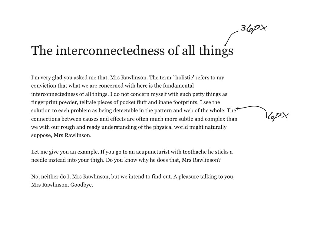 The interconnectedness of all things I'm very g...