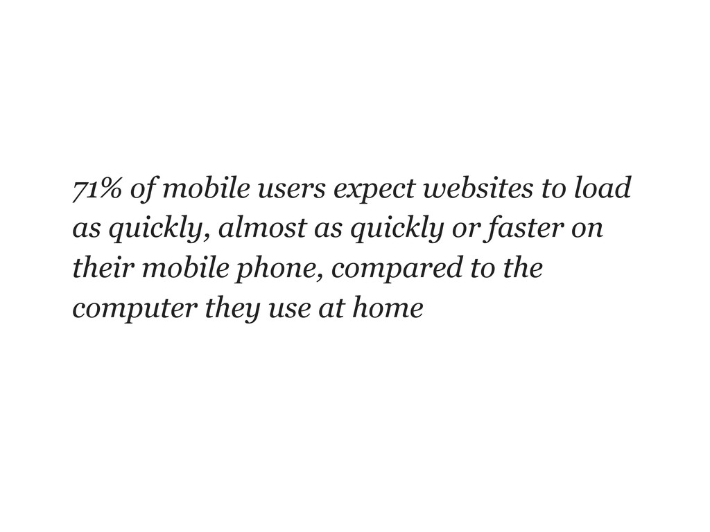 71% of mobile users expect websites to load as ...