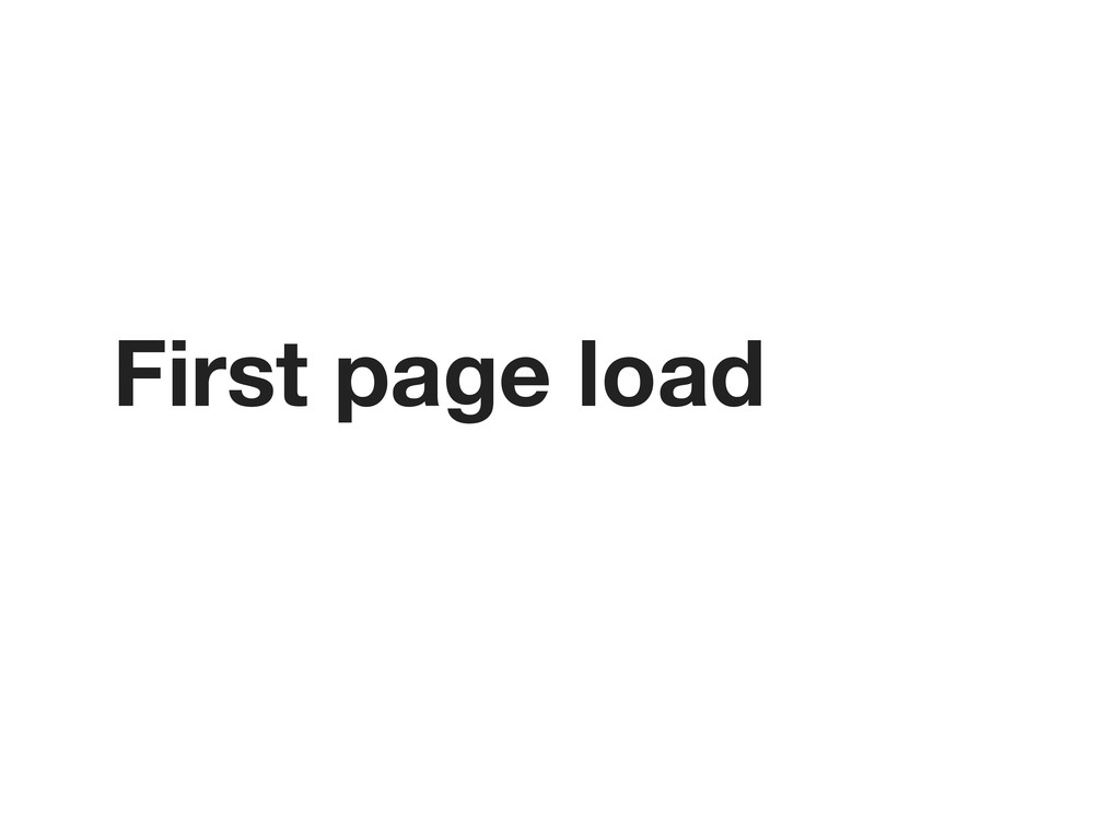 First page load