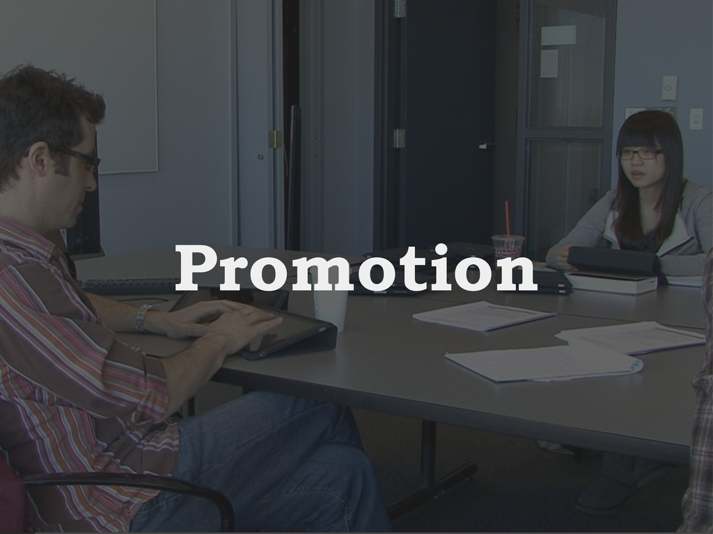Intro Design Conclusion Study Promotion