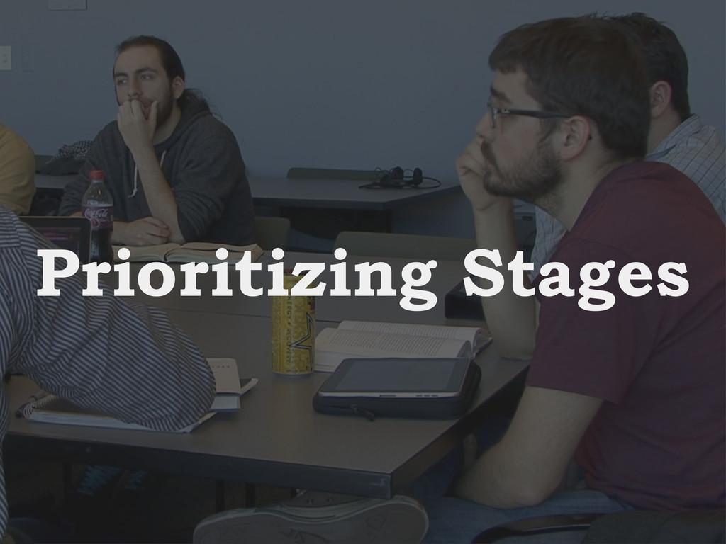 Intro Design Conclusion Study Prioritizing Stag...