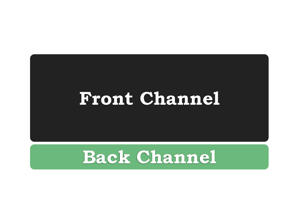Front Channel Back Channel