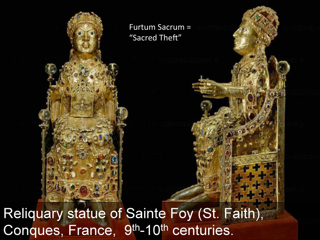 Reliquary statue of Sainte Foy (St. Faith), Con...