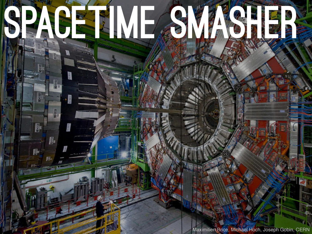 spacetime smasher Maximilien Brice, Michael Hoc...