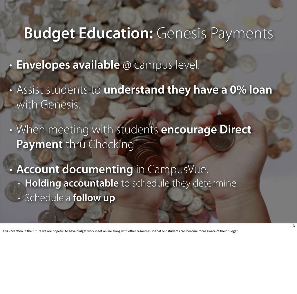 Budget Education: Genesis Payments • Envelopes ...