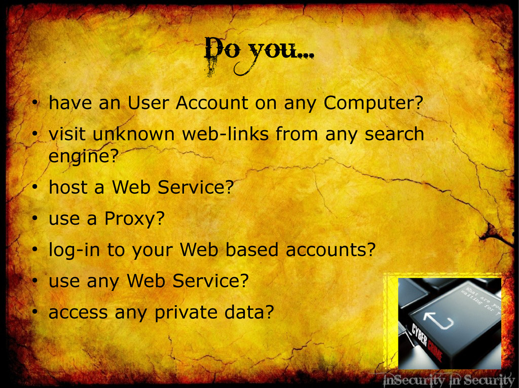 Do you... ● have an User Account on any Compute...