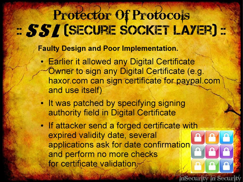 Protector Of Protocols :: SSL (Secure Socket La...